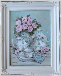 Original Painting - Arrangement of China - FREE POSTAGE Australia wide