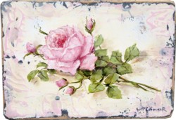 Original Painting - Rose & Buds - Postage is included Australia Wide