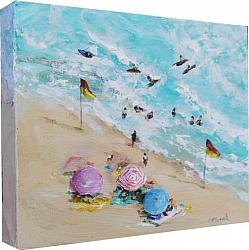 Original Paintings on Canvas - At the Beach B - 20 x 25cm series