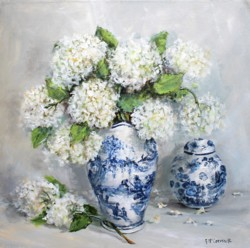 Original Painting on Panel - Blue & White Collection 40 x 40cm