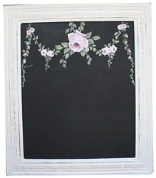 Black board with hand painted Rose Design - Postage is included Australia Wide