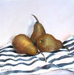 Original Painting on Canvas - 3 Bosc Pears 30 x 30cm  - postage included Australia wide