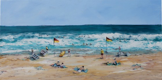 Original Painting on Panel - Beach Day Bliss - Postage included Australia wide