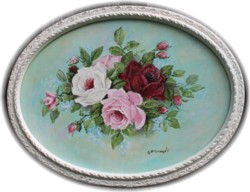"""Original Painting - """"Floating Rose Bouquet"""" - FREE POSTAGE Australia wide"""
