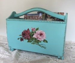 Hand Painted Timber Magazine Tidy - Postage is included Australia Wide