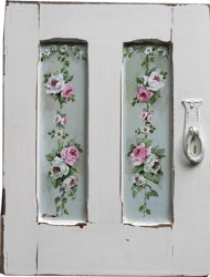 Hand Painted Vintage Cupboard Door - Postage is included Australia Wide