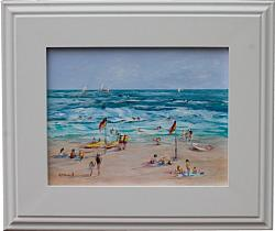 Original Painting - Beach Days - postage included Australia wide