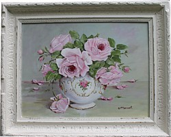 "Original Painting - ""Late Pink Blooms"" - FREE POSTAGE Australia wide"
