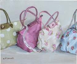 Original Painting on Canvas - A Fetish for Bags - Postage is included Australia Wide