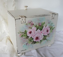 Old Hand Painted Box - Postage is included Australia Wide
