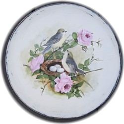 Hand Painted Timber Platter - Postage is Included Australia Wide