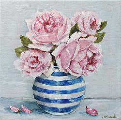 Original Painting on Canvas - Pretty Pinks - 20 x 20cm series