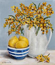 ORIGINAL Painting on Canvas - Lemons and Wattle - SOLD OUT