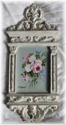 "Original Painting in Ornate Frame - Floral Pattern ""A"""
