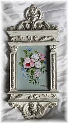 "Original Painting in Ornate Frame - Floral Pattern ""B"""