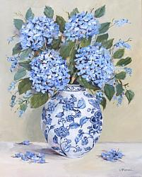 Original Painting on Canvas - Blues and Whites  - postage included Australia wide