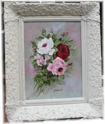 "Original Painting - ""Loose Roses"" - FREE POSTAGE Australia wide"