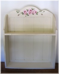 Hand Painted Timber Shelf - Pick Up Only