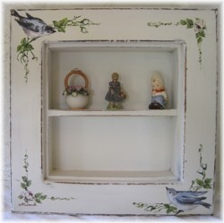 Hand Painted Shadow Box - Free Postage Australia Wide