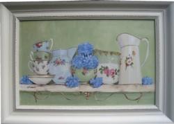 Original Painting - Vintage China & Hydrangeas - PICK UP ONLY