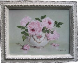 "Original Painting  ""Soft Pink Roses"""