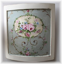 Hand Painted Design on Curved Panel - Postage is included Australia Wide