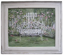 "Original Painting  ""The Garden Bench"" sold"