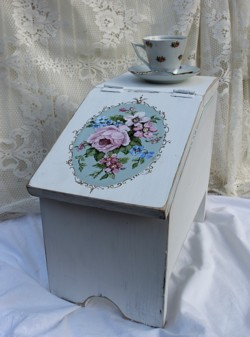 Hand Painted Timber Shoe Box - Postage is included Australia Wide