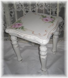 Hand Painted Timber Stool - Postage is included Australia wide