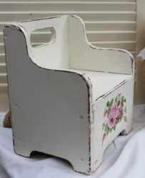 Hand Painted little timber chair - Postage is included Australia wide