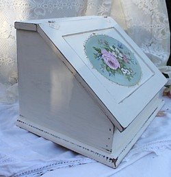 Hand Painted  Timber  Bread/Storage Box - Postage is included Australia wide