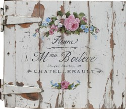 Original Painting on Vintage Cupboard Door - Postage is included Australia Wide
