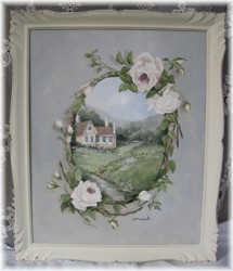 """Original Painting """"The French Manor House"""" - Postage is included Australia wide"""