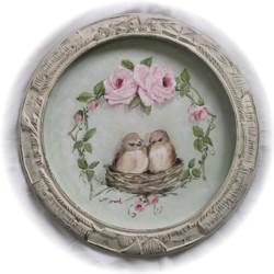 Original Painting Pair of Birds & RosesPostage in included Australia wide