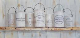Original Painting on Canvas - French Themed Tins - Postage is included Australia Wide