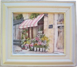 Original Painting - Paris Fleurist - Postage is included Australia Wide