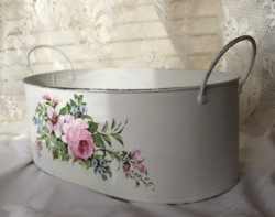 Hand painted Tin Tub - Postage is included Australia Wide