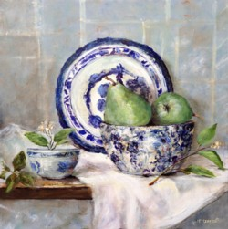Original Painting on Panel - Still Life Study with Pears - Postage included Australia wide