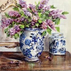 Original Painting on Canvas - Interior B & W - 20 x 20cm series