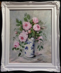 Original Painting - Peonies - postage is included Australia wide