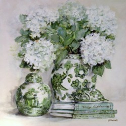 Original Painting on Panel - Green and White collection - Postage included Australia wide