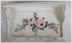 Hand Painted Shelf - roses - Postage is included Australia Wide