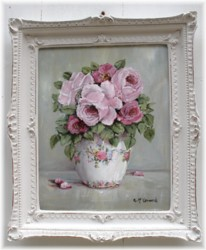 "Original Painting - ""Pink Roses in a Vase"" - FREE POSTAGE Australia wide"