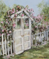 "Original Painting - ""The Cottage Gate"" - Postage is included Australia Wide"