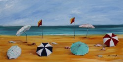 Original Painting on Canvas - Between The Flags - Postage is included Australia Wide