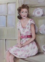 """Original Painting on Canvas -""""Glamour in The Kitchen"""" - Postage is included Australia Wide"""