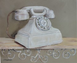 "Original Painting on Canvas -""The Vintage Telephone"" - Postage is included Australia Wide"