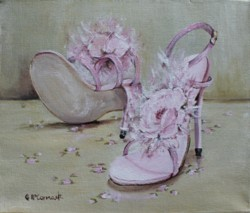 "Original Painting on Canvas -""Party Shoes"" - Postage is included Australia Wide"