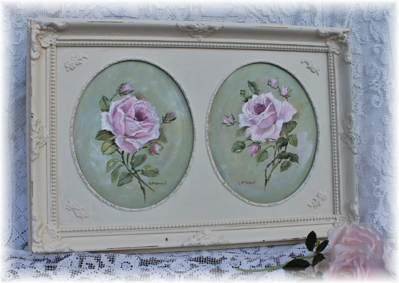 Pair of Roses, Original Painting