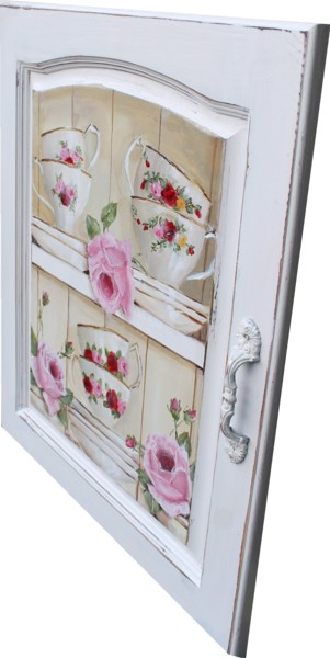 Original Painting on cupboard door